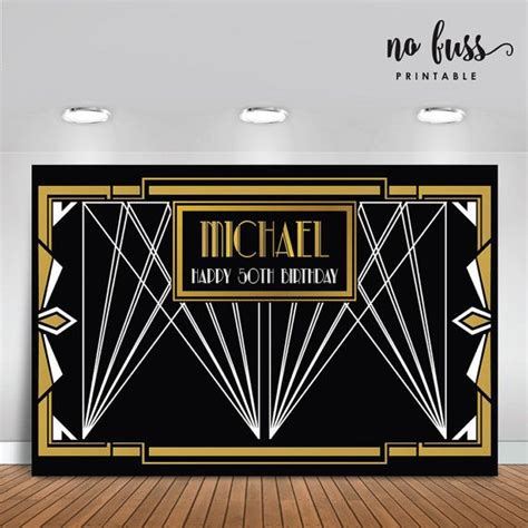 Gatsby Wedding Banner by Great Gatsby Backdrop Adults Banner Poster