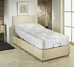 3ft single adjustable electric chenille bed choice of mattress headboard ebay