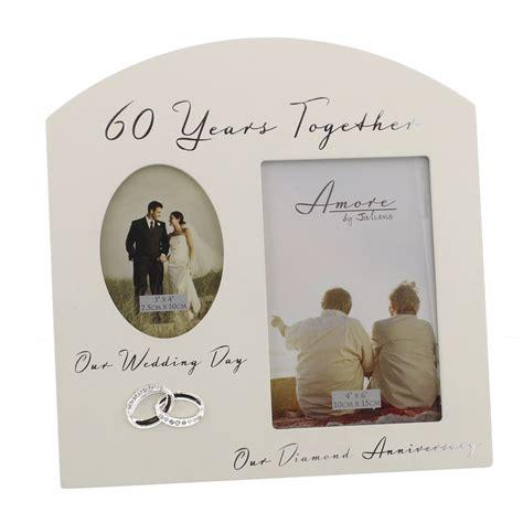 60th wedding anniversary gift ideas wooden photo frame ebay