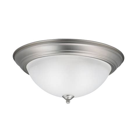 shop kichler 13 25 in w brushed nickel flush mount light at lowes shop kichler 15 25 in w brushed nickel flush mount light at lowes