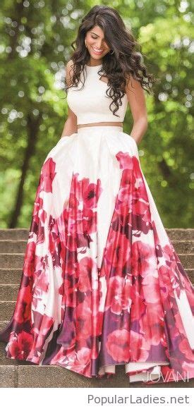 Lnice Flower Top Skirt floral skirt and crop top