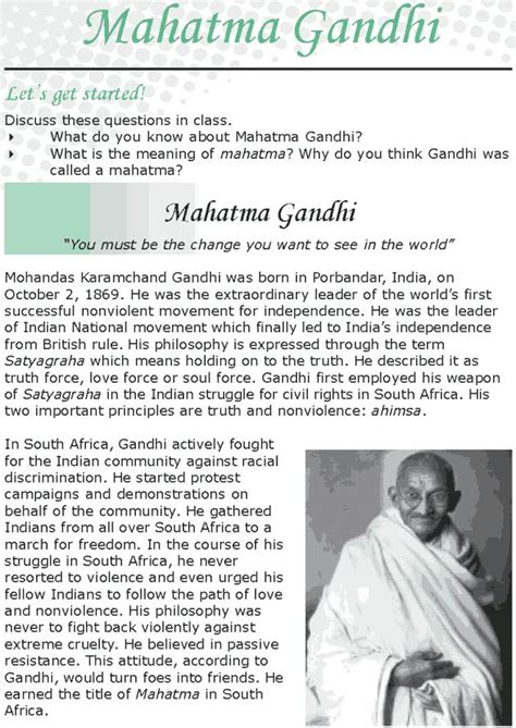 biography of mahatma gandhi for class 1 108 best english reading grade 8 lessons 1 26 images on