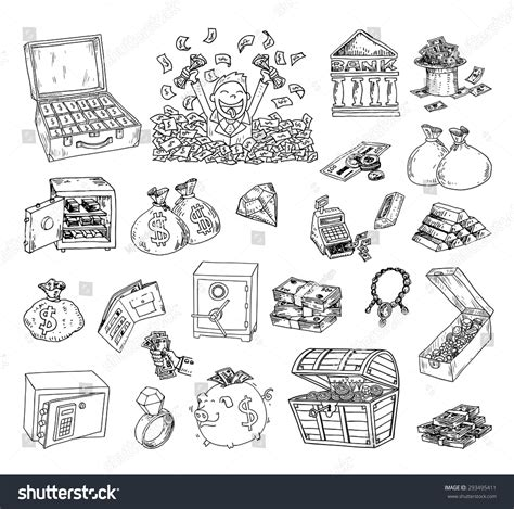 how to create money in doodle doodle money icon set stock vector 293495411