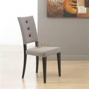 chaise de salle 224 manger moderne rev 234 tement tissu boutons
