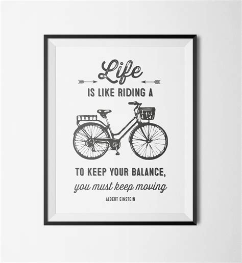 printable art quotes printable wall art motivational bicycle quote