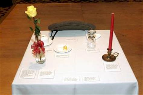 table for one fallen comrade ceremony