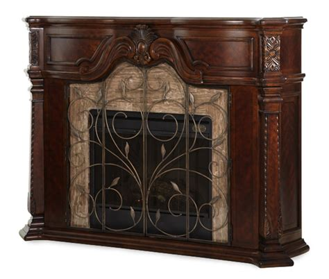 michael amini fireplace michael amini court vintage fruitwood traditional