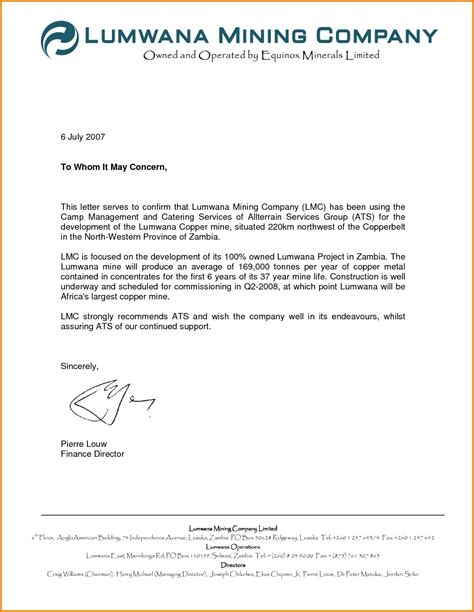 how to write to whom it may concern letter template copy