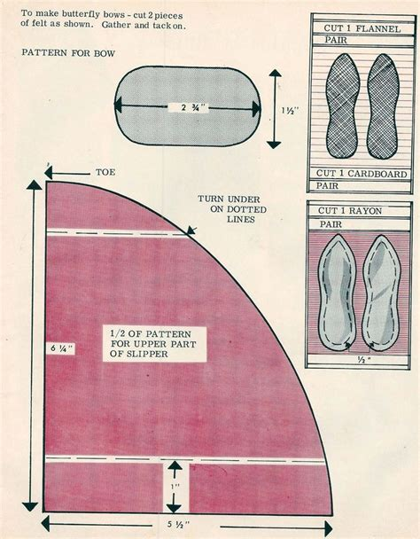 slipper pattern to sew free sewing pattern s slippers treasure shop