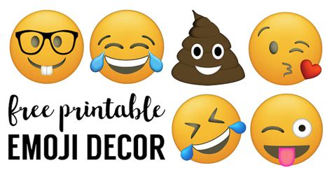 emoji faces printable  emoji printables paper