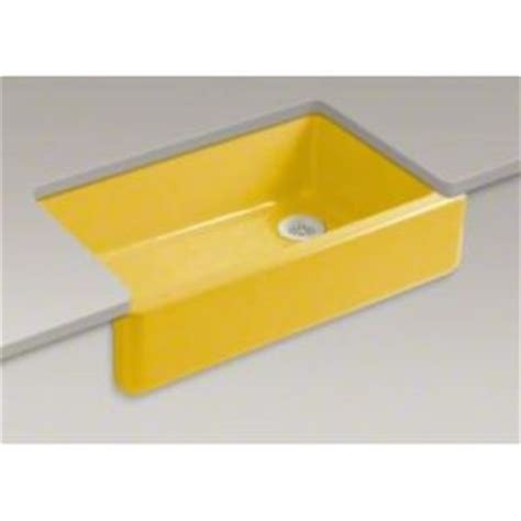 Yellow Kitchen Sink K6489j14 Whitehaven Apron Front Specialty Sink Kitchen Sink Piccadilly Yellow At Shop