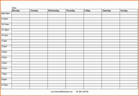weekly schedule template excel weekly schedule weekly schedule