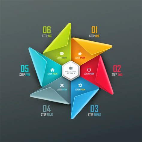 layout untuk presentasi 25 infografik gaya moderen dan keren vector gratis