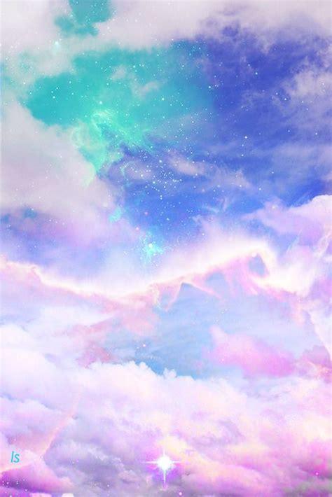 sky space for pinterest art cute kawaii sky design space galaxy pink clouds pastel