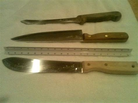 vintage kitchen knives northcraft butcher knife and barclay forge knife and