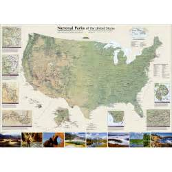 united states national parks wall map national