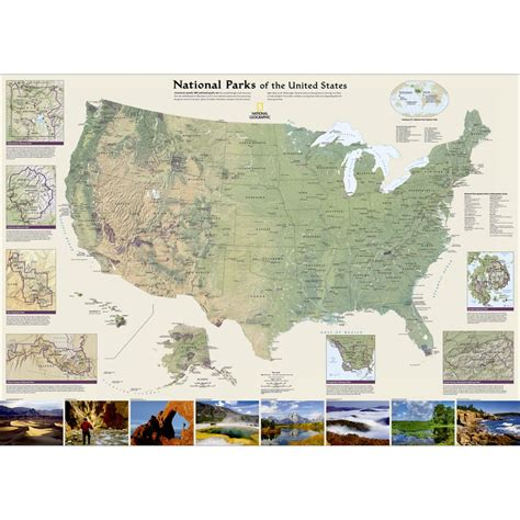 united states map with national parks united states national parks wall map national