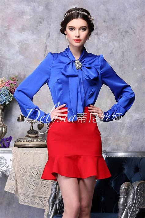 Blouse Katun C Bow satin bow blouse bow bow blouse satin and satin bows