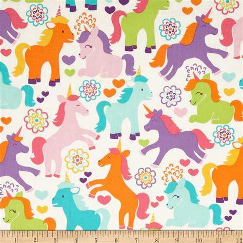 unicorn pattern fabric michael miller sorbet magic unicorns sorbet discount