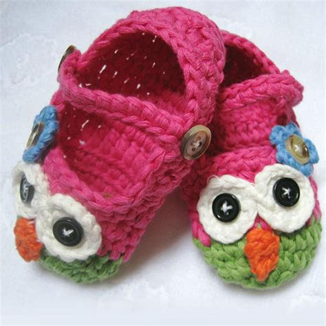 crochet owl slippers free shipping 1pair retail janes slippers baby
