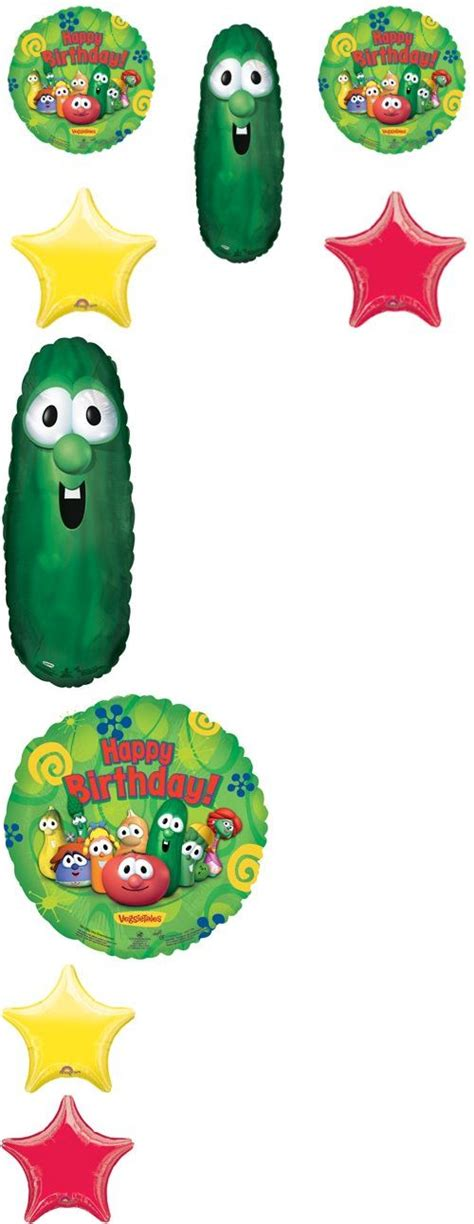 Ea Decorate Happy Birthday Balloon 91 best images about veggie tales bday on bobs