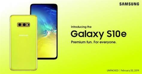 el samsung galaxy 10e confirmado en el material de marketing de la marca