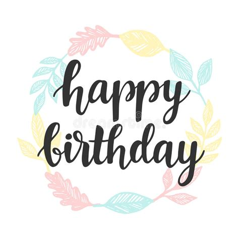 happy birthday vintage design happy birthday greeting card design template with cute