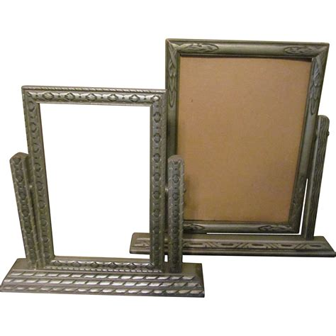 swing photo frames pair art deco swing picture frames from rubylane sold on