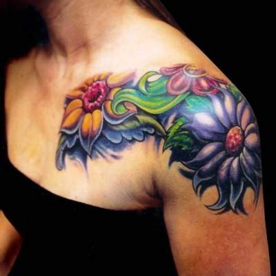 girly flower tattoos feminine images designs