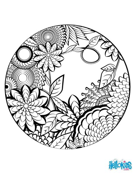 mandala coloring in book mandala coloring page coloring pages hellokids