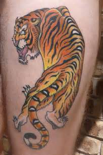 Awesome japanese style tiger tattoo pictures