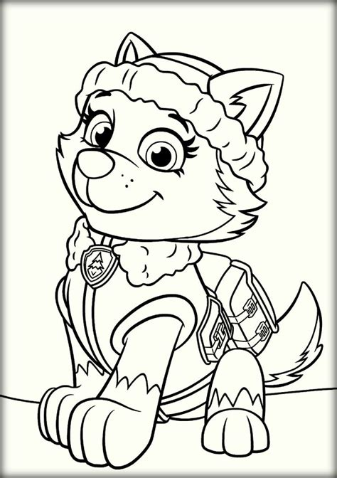 paw patrol blank coloring pages to print paw patrol coloring pages color zini