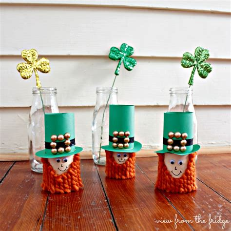 craft toilet paper leprechauns view from the