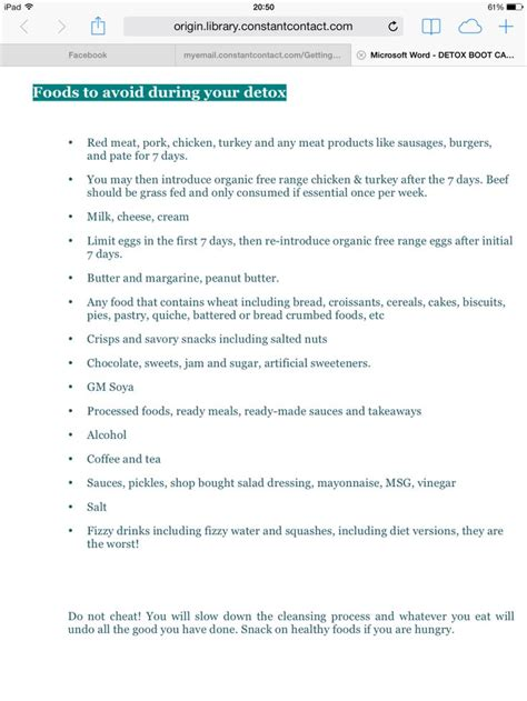 What To Avoid While Detoxing From by Foods To Avoid During Your 28 Day Arbonne Detox Arbonne