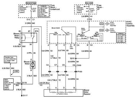 03 chevy trailblazer fuse box led resistor wiring diagram honda civic dx fuse diagram for 95 repair guides heating ventilation air conditioning 2001 hvac systems manual