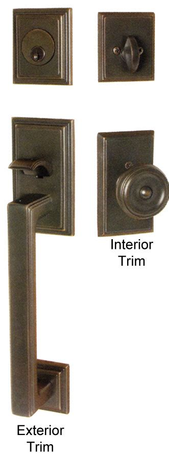 Exterior Door Locks by Emtek Hamden Brass Entry Door Handle Shop Entry Set Door Locks Homestead Hardware