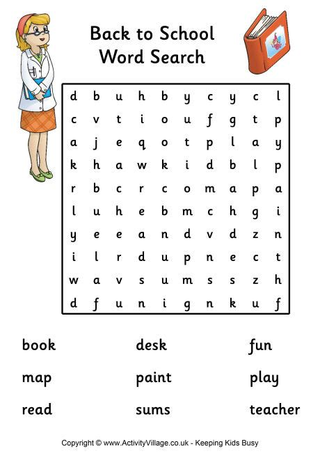 printable children s word searches back to school word search easy pdf link teach arts