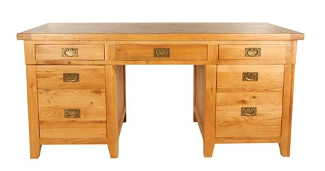 chester solid oak furniture large office pc computer desk