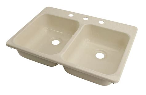 rv bathroom sinks better bath 25 quot x 17 quot double sink 3 hole parchment
