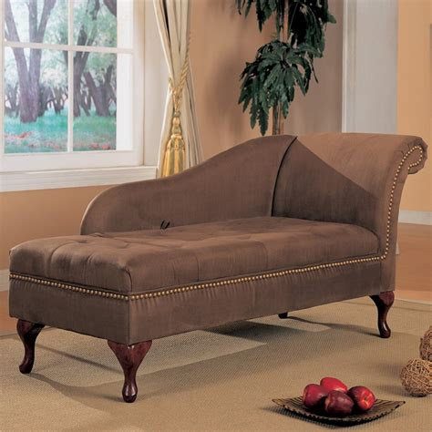 Microfiber Chaise Lounge by Coaster Furniture Brown Microfiber Chaise Lounge At
