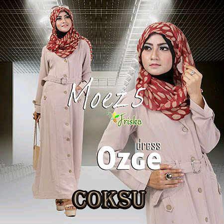 Modern Dress By Friska Po ozge dress by friska coklat baju muslim gamis modern