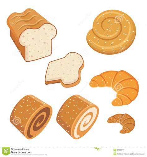 uzbek bread stock photos royalty free images vectors set of loaves and bread stock vector illustration of