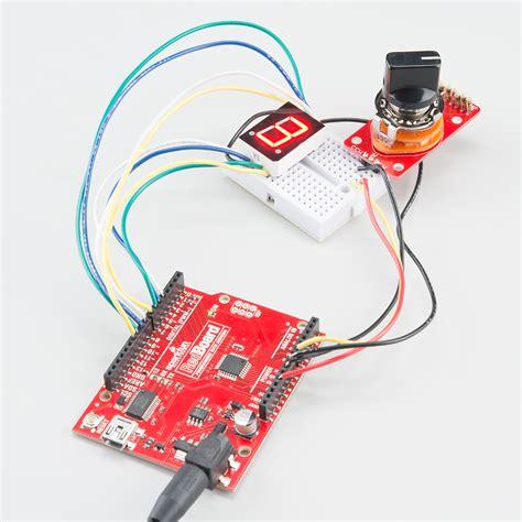 seven segment display arduino sparkfun wiring diagrams