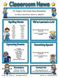 classroom newsletter templates free printable custom classroom newsletter printable sle home