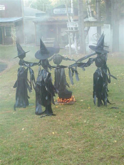 three witches decor outdoor decor witch circle with lighted