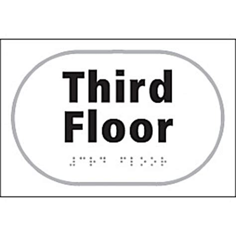 3rd Floor by Braille Third Floor Sign Cheap Braille Third Floor Sign