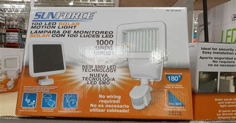 costco solar panels sunforce 100 led solar motion security light costco weekender