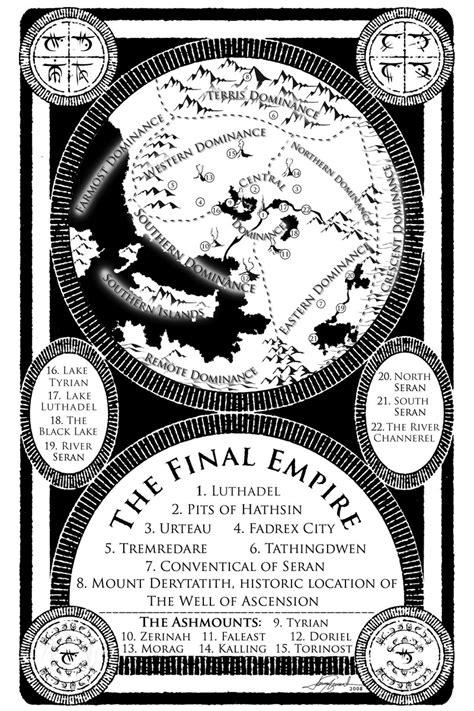 Mistborn 2 Maps and Illustrations   Brandon Sanderson