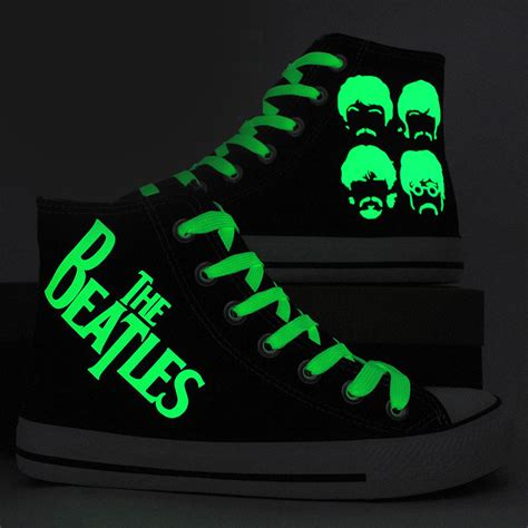 glow in the paint shoes the beatles shoes painted canvas shoes glow in the