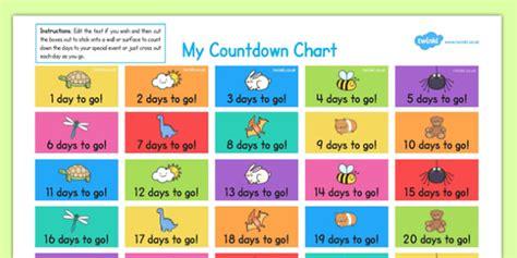 countdown chart template countdown chart countdown chart countdown chart count
